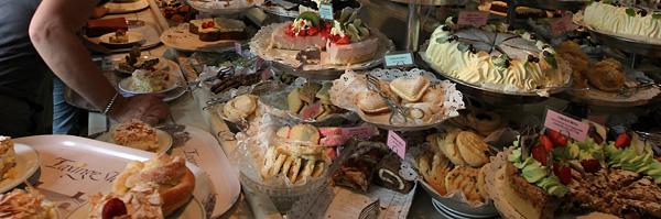 Gâteaux au château de Taxinge