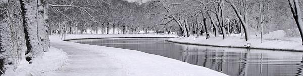 Djurgården sous la neige