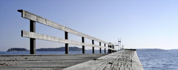 Un ponton près de Västerhaninge