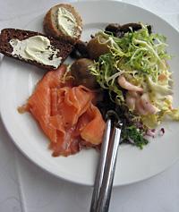 Saumon et crevettes au menu