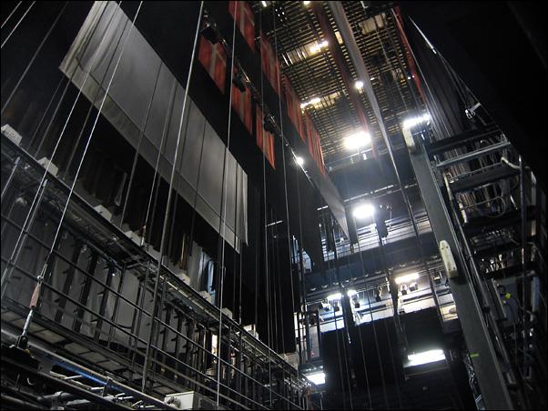 Dramaten - Stora scene - les coulisses