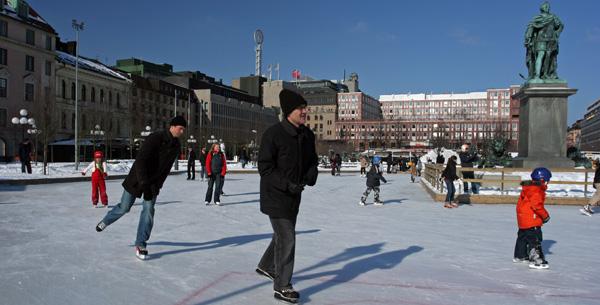Stockholm - Patinoire extérieure